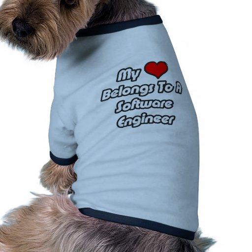 Mi corazón pertenece a una Software Engineer Camiseta De Perro