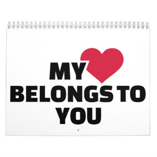 Mi corazón pertenece a usted calendarios