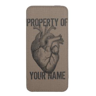 Mi corazón pertenece a usted funda acolchada para iPhone