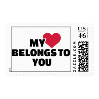 Mi corazón pertenece a usted sello