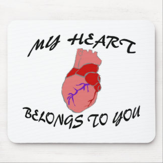 Mi corazón pertenece a usted tapete de ratones