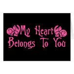 Mi corazón pertenece a usted tarjeta