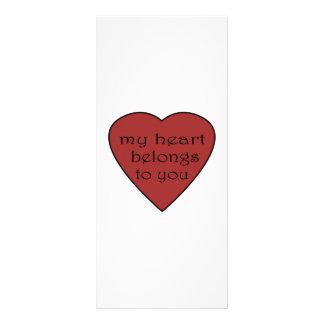 Mi corazón pertenece a usted tarjeta publicitaria