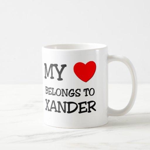 Mi corazón pertenece a Xander Taza De Café