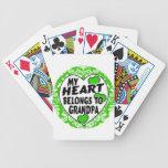 mi corazón pertenece al abuelo baraja cartas de poker