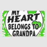 mi corazón pertenece al abuelo rectangular altavoz