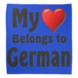 Mi corazón pertenece al alemán bandana
