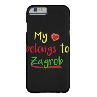 Mi corazón pertenece al caso croata del iPhone de Funda Para iPhone 6 Barely There