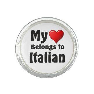 """""""Mi corazón pertenece al italiano """" Anillos"""