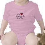 Mi corazón pertenece al mono del papá traje de bebé