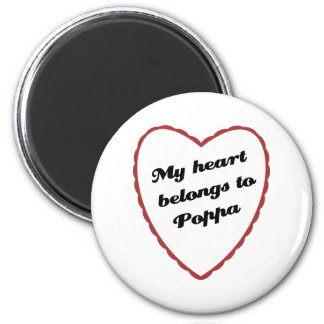 Mi corazón pertenece al Poppa Imán Redondo 5 Cm