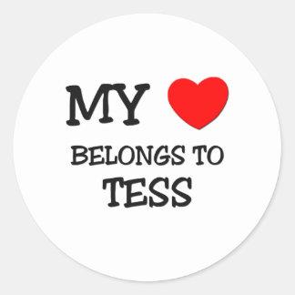 Mi corazón pertenece al TESS Pegatinas Redondas