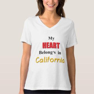 Mi corazón pertenece en California Playeras