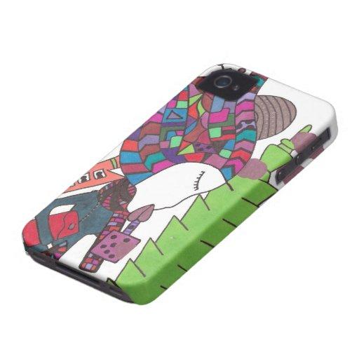 mi corazón pertenece en caso del iphone de Taiwán Case-Mate iPhone 4 Cobertura