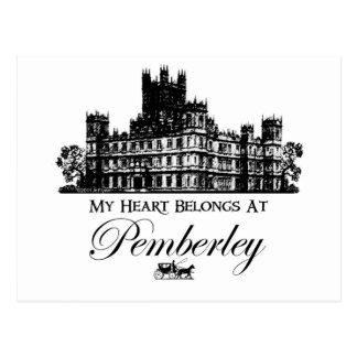 Mi corazón pertenece en Pemberley Tarjeta Postal