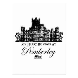 Mi corazón pertenece en Pemberley Tarjetas Postales