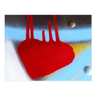 Mi corazón sangra tarjetas postales