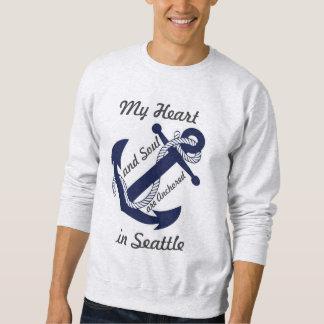 Mi corazón se ancla en Seattle Sudadera Con Capucha