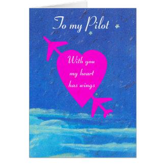 Mi corazón Tarjeta del día de San Valentín-rosado