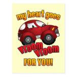 ¡Mi corazón va Vroom Vroom para usted! Postales