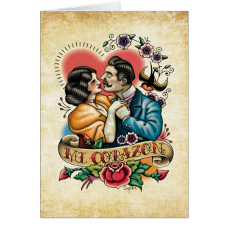 """Mi Corazon"" Valentine's Day / Romance Card"