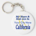Mi corazón y alma están en California Llaveros