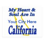 Mi corazón y alma están en California Postales