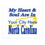 Mi corazón y alma están en Carolina del Norte Postal