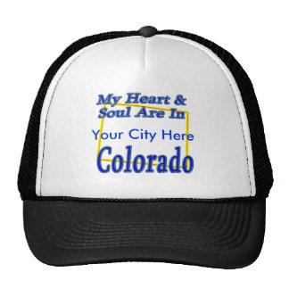 Mi corazón y alma están en Colorado Gorros