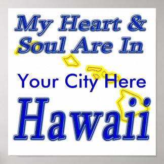 Mi corazón y alma están en Hawaii Impresiones