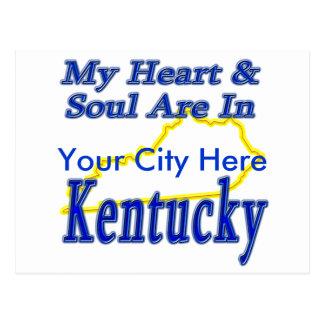 Mi corazón y alma están en Kentucky Tarjetas Postales