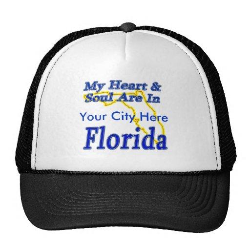 Mi corazón y alma están en la Florida Gorras De Camionero