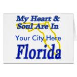 Mi corazón y alma están en la Florida Tarjeta