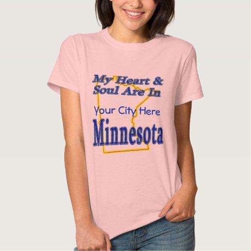 Mi corazón y alma están en Minnesota Camiseta