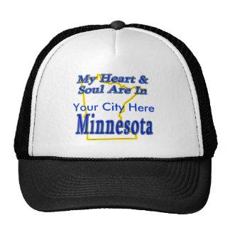 Mi corazón y alma están en Minnesota Gorros