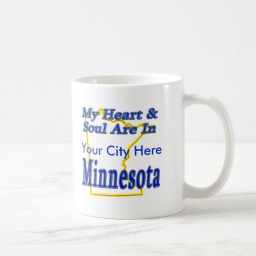 Mi corazón y alma están en Minnesota Taza Clásica