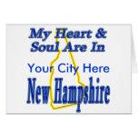 Mi corazón y alma están en New Hampshire Tarjetas