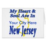 Mi corazón y alma están en New Jersey Felicitacion