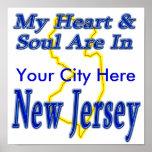 Mi corazón y alma están en New Jersey Impresiones