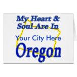 Mi corazón y alma están en Oregon Felicitacion
