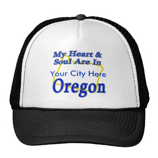 Mi corazón y alma están en Oregon Gorros
