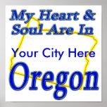 Mi corazón y alma están en Oregon Posters