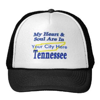 Mi corazón y alma están en Tennessee Gorros