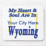 Mi corazón y alma están en Wyoming Tapetes De Raton