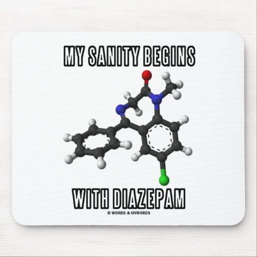 Mi cordura comienza con el diazepam (la molécula q tapetes de raton