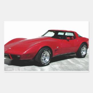 Mi Corvette de 1979 rojos Pegatina Rectangular