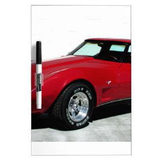 Mi Corvette de 1979 rojos Pizarras Blancas De Calidad