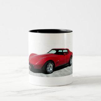 Mi Corvette de 1979 rojos Taza De Dos Tonos