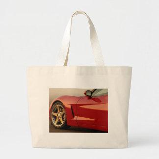 Mi Corvette rojo Bolsa Tela Grande