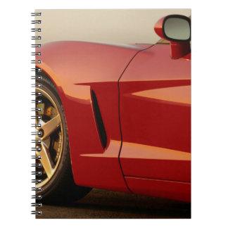 Mi Corvette rojo Libros De Apuntes Con Espiral